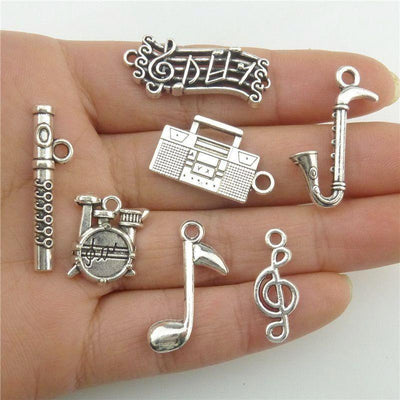 2 sets Music Instrumental Pendant (14pcs in total) - Artistic Pod Review
