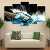 5 Pieces Wave Guitar Canvas Art - Artistic Pod Review