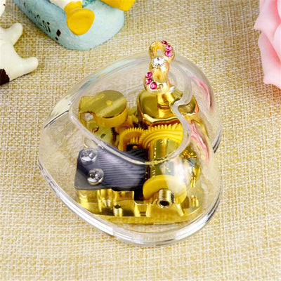 Gorgeous Heart Shape Music Box Castle in the Sky Melody