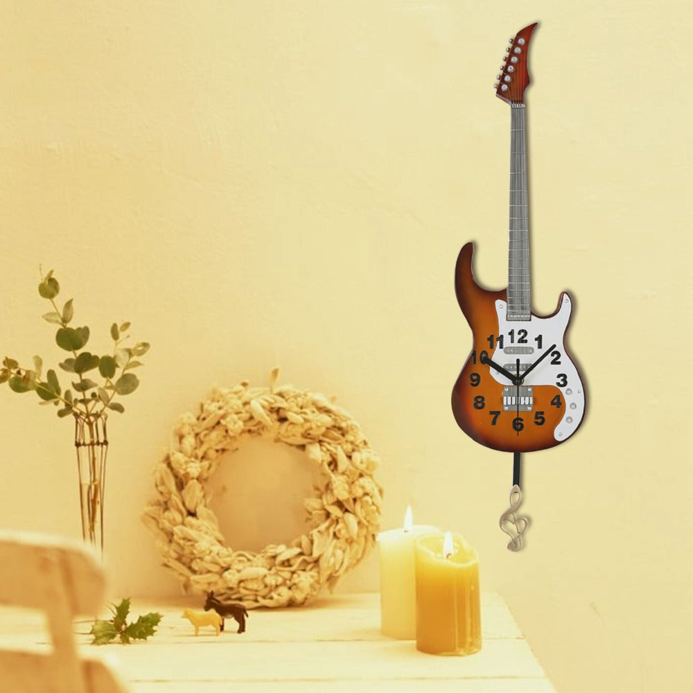 Guitar Wall Clock Decoration - Artistic Pod