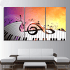 3 Pieces Music Keys Piano Canvas Art - Artistic Pod Review