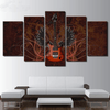 5 Pieces Rock Wing Guitar Canvas Art - Artistic Pod Review
