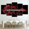 5 Pieces Red Flame Guitar Canvas Art - Artistic Pod Review