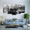 5 Pieces Grey Scale Drum Canvas Art - Artistic Pod Review