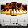 5 Pieces Burning Piano Canvas Art - Artistic Pod Review