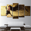 5 Pieces Metal Wing Guitar Canvas Art - Artistic Pod Review
