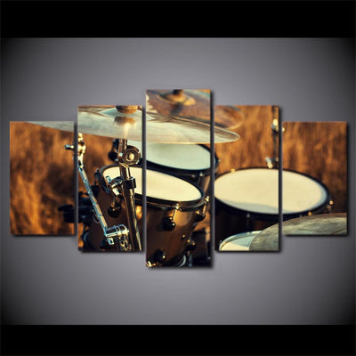 5 pieces Country Drum Set Canvas Art - Artistic Pod Review