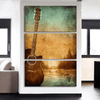 3 Pieces Sunset Guitar Canvas Art - Artistic Pod Review