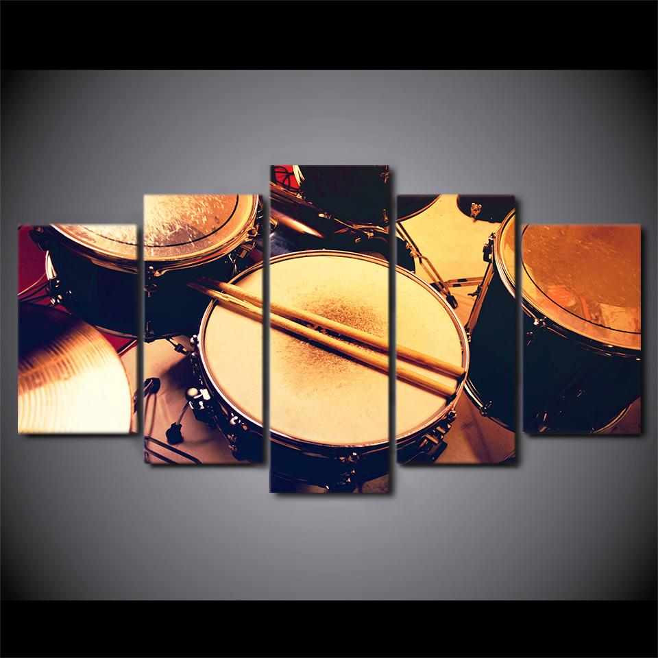 5 pieces Timeless Drum Canvas Art - Artistic Pod