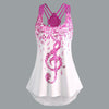 Musical Note Strappy Tank Top