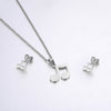 Musical Notes Silver Jewelry Set
