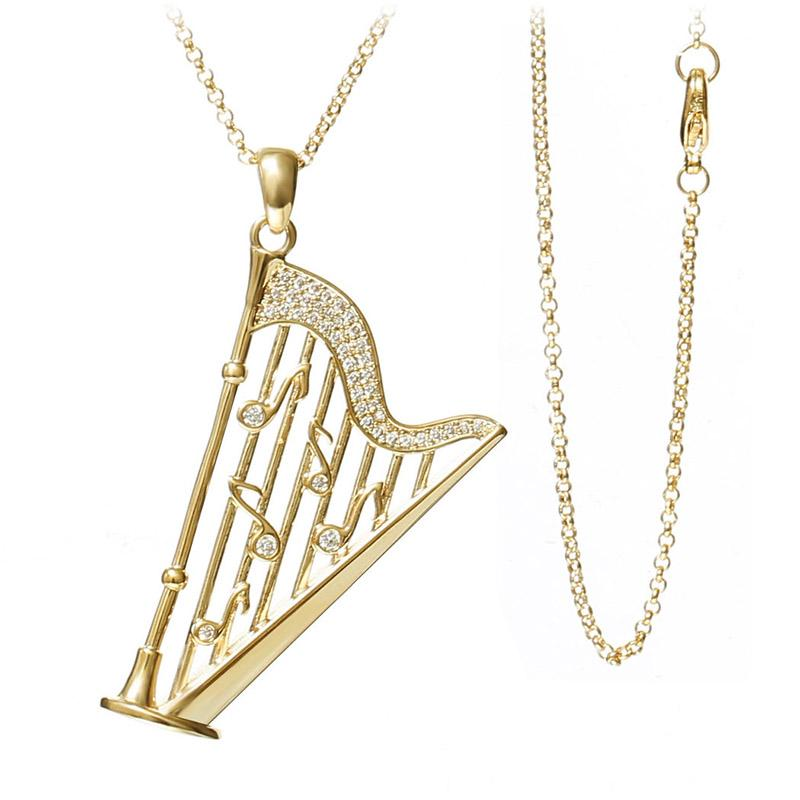 Music note harp pendant necklace artistic pod music note harp pendant necklace artistic pod review aloadofball Gallery