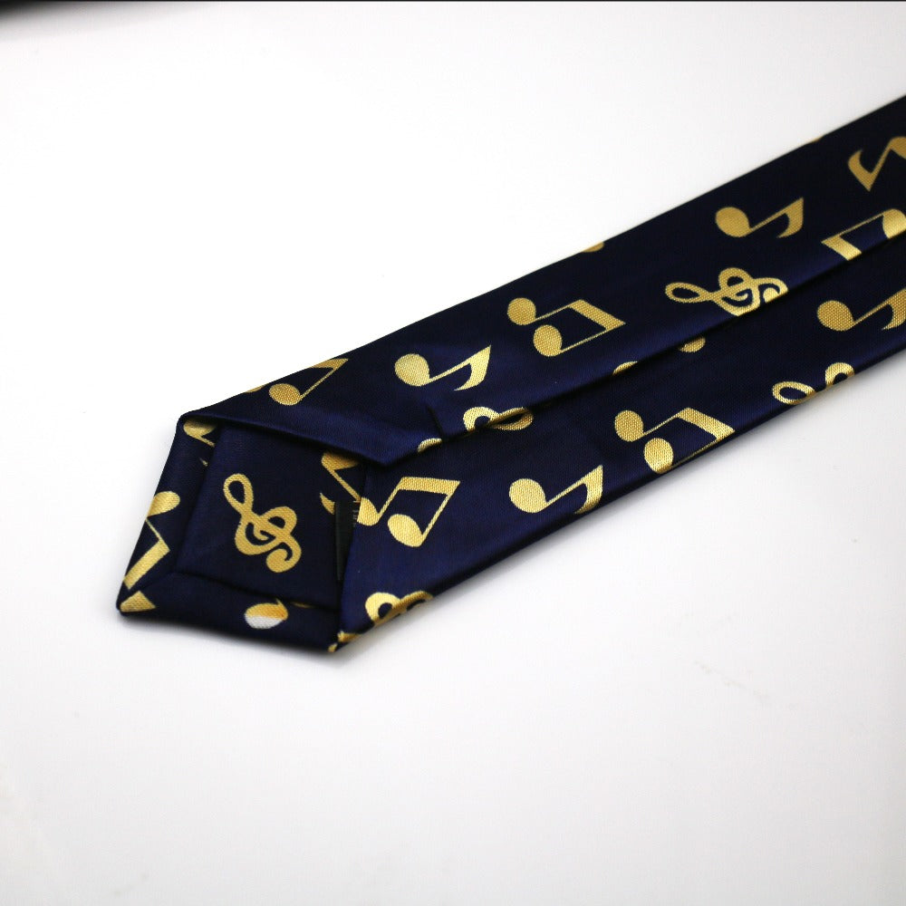 Gold Trumpet Music Bell Notes Polyester Novelty Tie