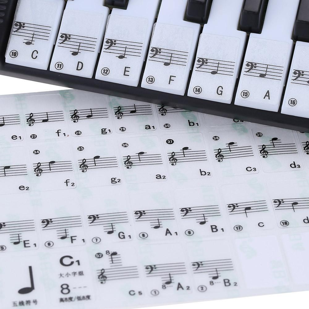 It is a graphic of Piano Key Stickers Printable inside colored