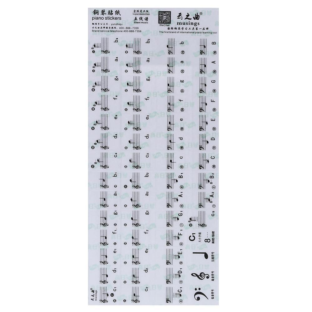 This is an image of Piano Key Stickers Printable with regard to musical keyboard