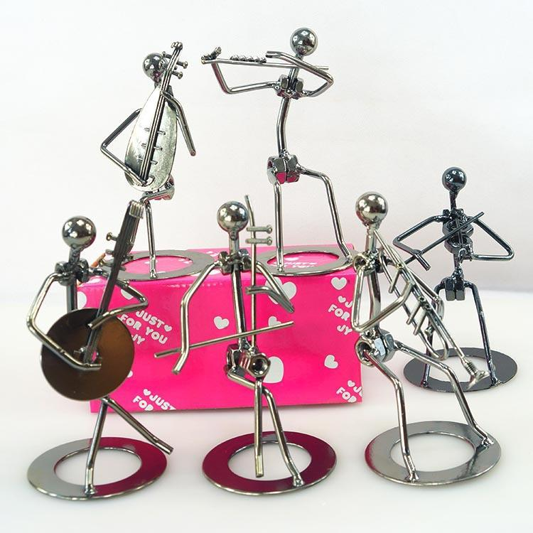 6 Pieces Set Iron Artist Metal Crafts Band Style Home