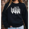 JAZZ Music Piano Sweatshirt