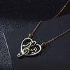Music Notes Heart Necklace