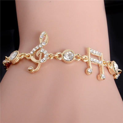 Free - Crystal Musical Notes Bracelet - Artistic Pod Review