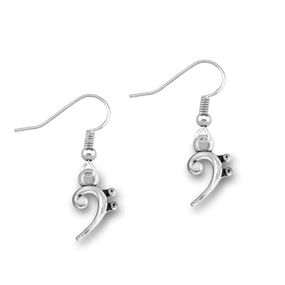 Bass Clef Note Earrings - Artistic Pod Review