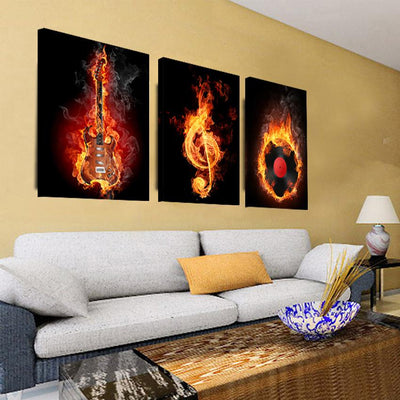 Black Burning Guitar Wall Decor - Artistic Pod Review