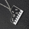 Piano Pendant Necklace