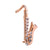 Crystal Saxophone Pin