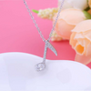 Music Note Silver Crystal Necklace