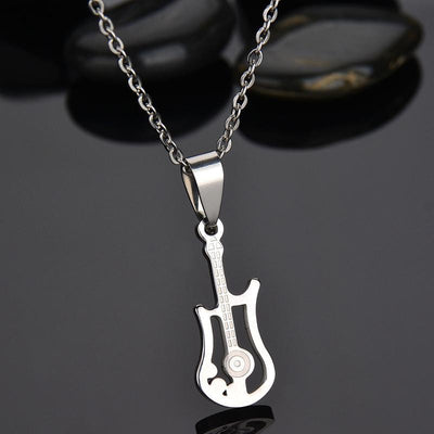 Electric Guitar Stainless Steel Necklace - Artistic Pod Review