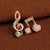 Musical Note Crystal Earrings