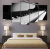 5 Pieces Monochrome Piano Canvas Art - Artistic Pod Review