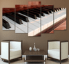 5 Piece Classic Piano Keys Canvas Art - Artistic Pod Review