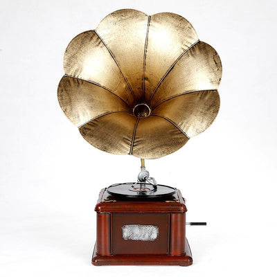 Retro Gramophone Phonograph Vintage Hand Made Decor