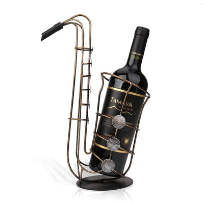 Fantastic Metal Saxophones Wine Rack - Artistic Pod Review