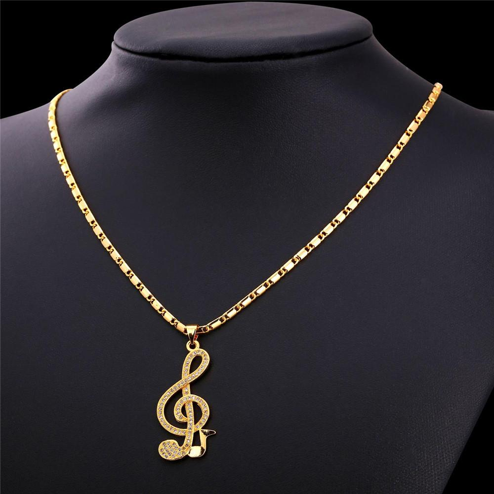 Music note zirconia pendant necklace artistic pod music note zirconia pendant necklace artistic pod review aloadofball Choice Image