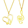 Musical Note Heart Shaped Necklace