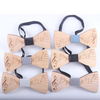 Wooden Music Notes Bow Tie