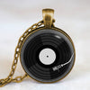 Vinyl Record Pendant Necklace