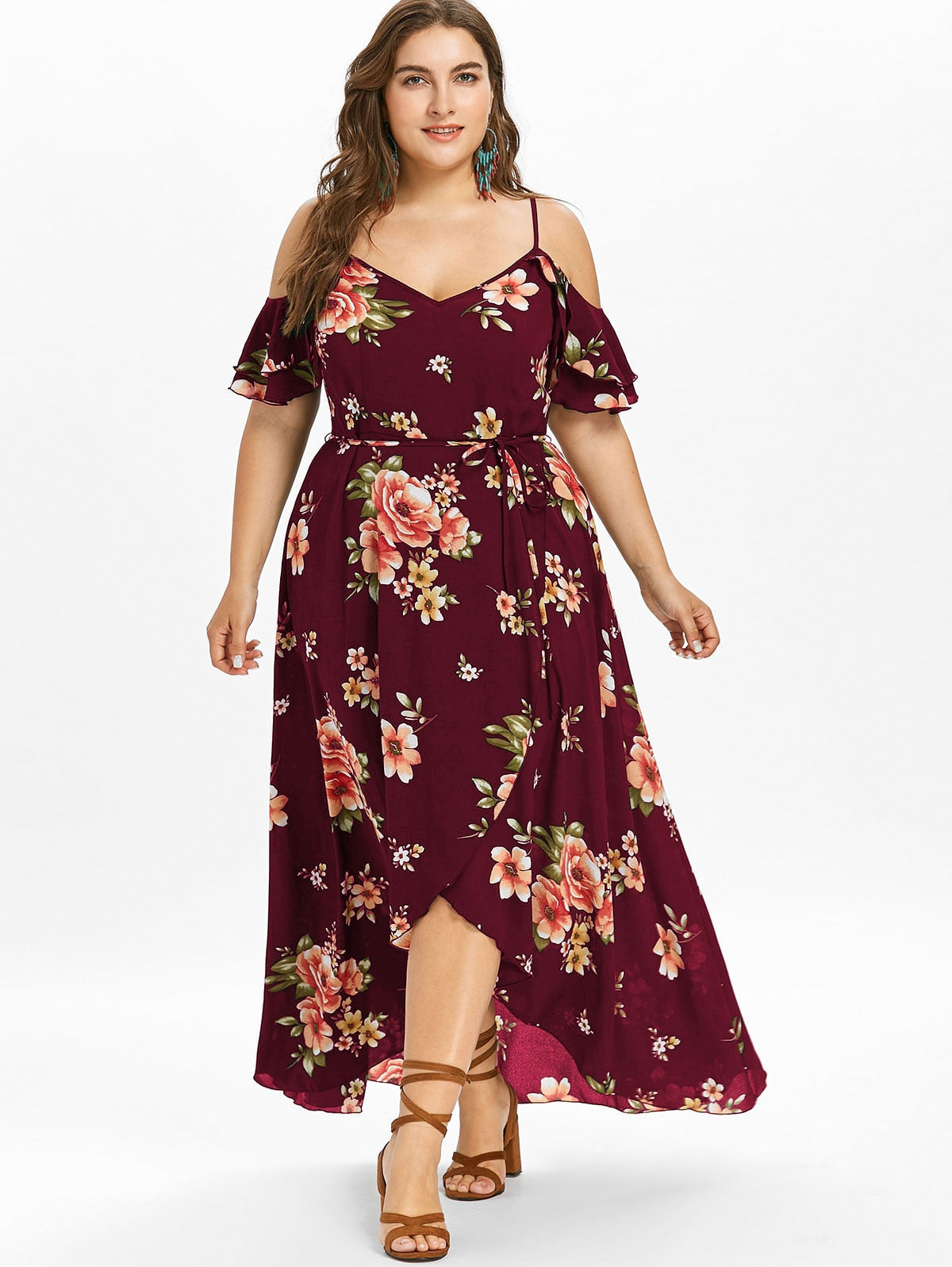 Summer Floral Plus Size Dress