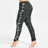 Musical Notes Print Leggings
