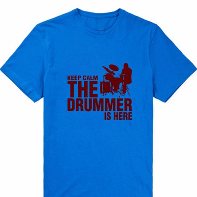 """KEEP CALM, THE DRUMMER IS HERE"" T-Shirt - Artistic Pod Review"