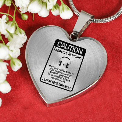 Caution Exposure to music Ultra Cotton Necklace & Bangle