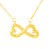 Daughter Infinity Hearts Necklace