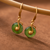 Music Notes Natural Jasper Earrings