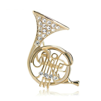 French Horn Shape Brooch
