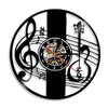 Treble Clef Notes Vinyl Clock