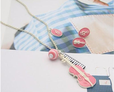 Violin Serenade Music Necklace