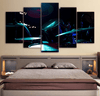 5 Pieces Cobalt Drum Set Canvas Art - Artistic Pod Review