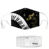 Piano Music Notes Mask