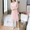 Elegant Long Sleeve Music Notes Dress